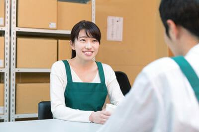 アルバイト・パートと面談する写真