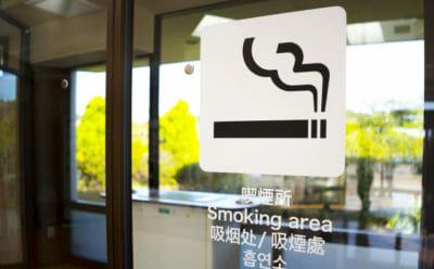 受動喫煙対策を行っている飲食店の喫煙ルーム